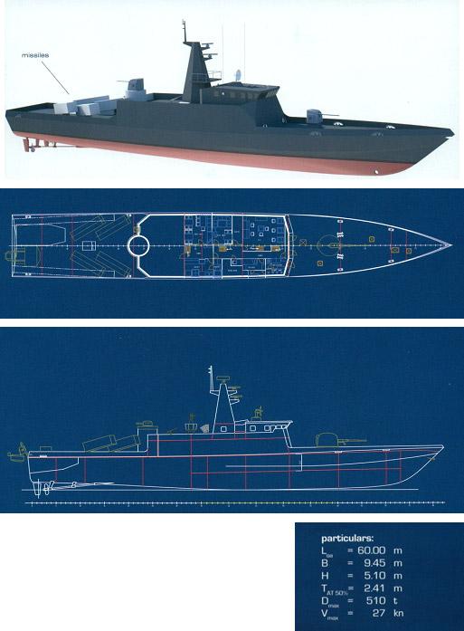 MCP60 – Patrol Missile Corvette