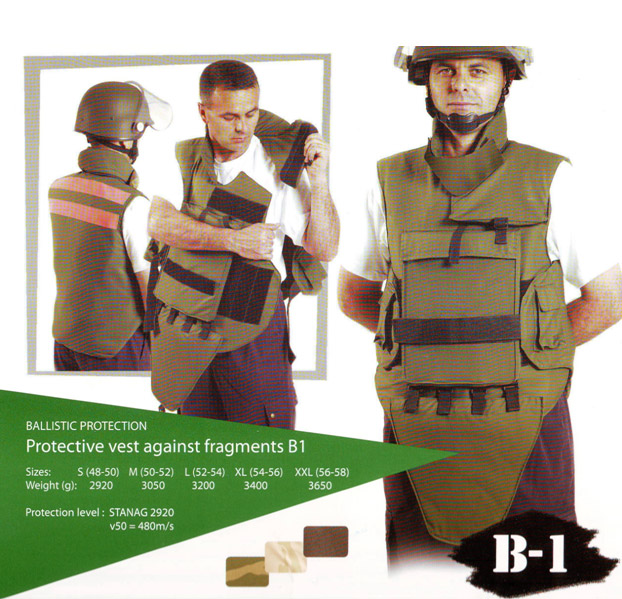 Protective vest against fragments B1