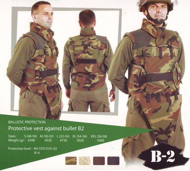 Protective vest against bullet B2